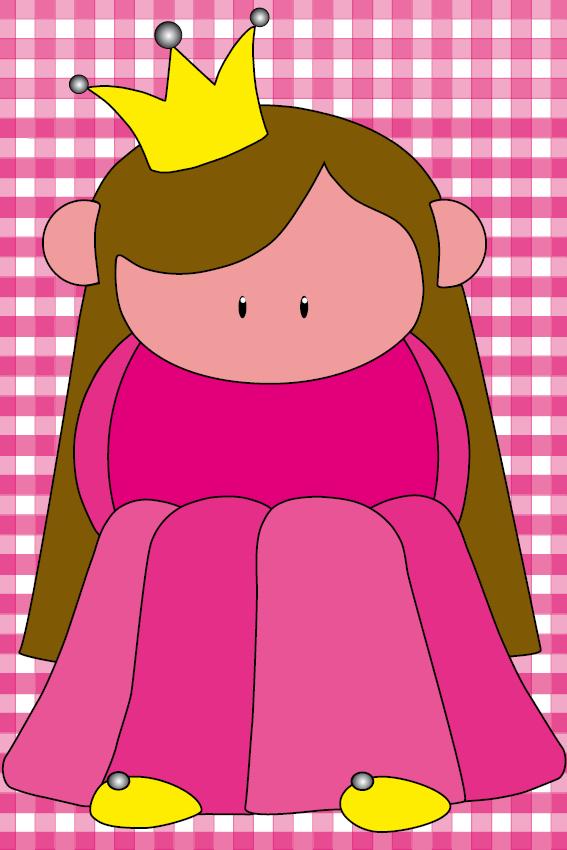 Prinsesje Ariane roze ruit