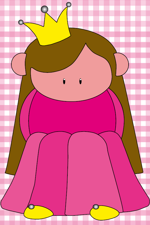 Prinsesje Ariane baby roze ruit