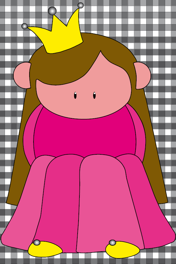 Prinsesje Ariane zwarte ruit