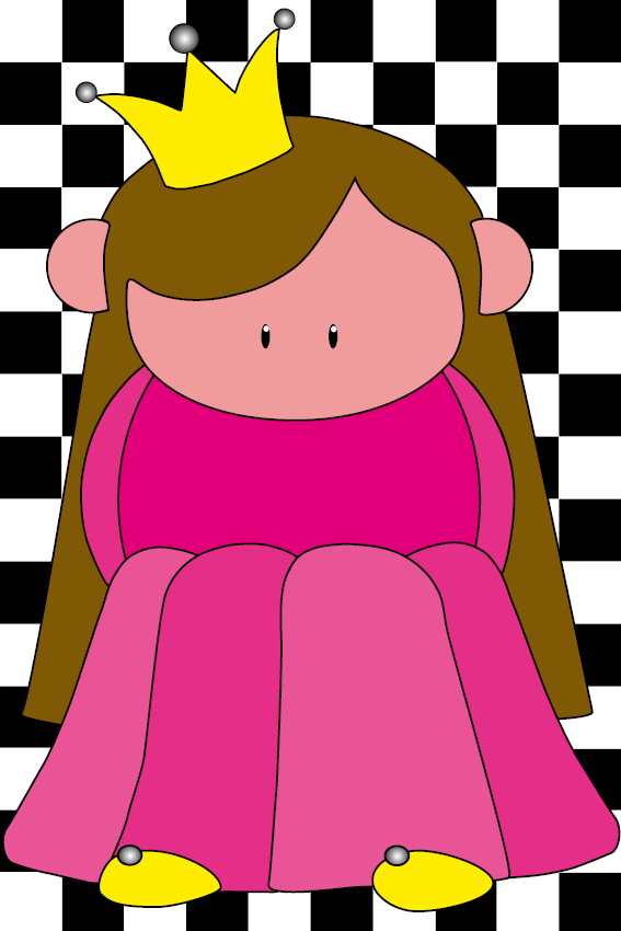 Prinsesje Ariane blokken zwart