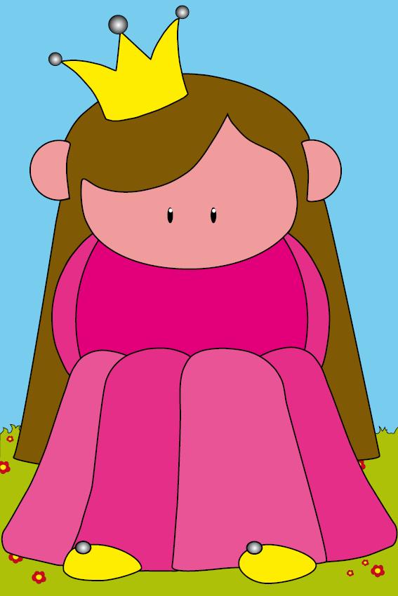 Prinsesje Ariane gras en lucht