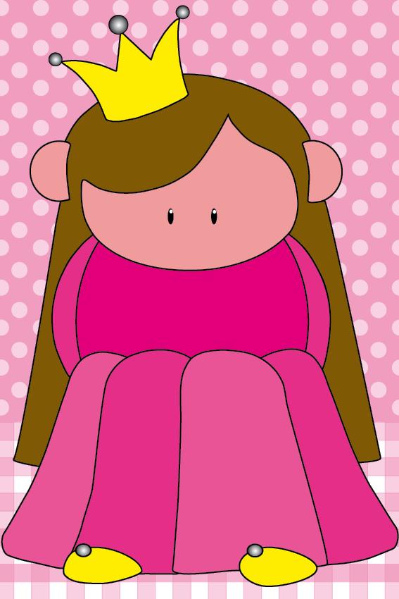 Prinsesje Ariane stip en ruit roze